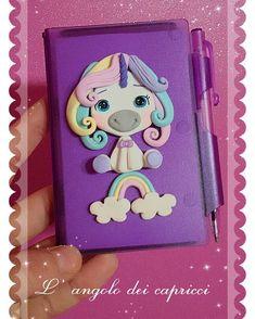 Available ♡ #fimoclay #creations #fimo #clay #fattoamano #handmade #unicorno #raimbow #unicorn #arcobaleno #notebook #kawaii