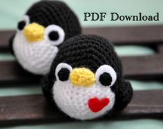 Tutorial Amigurumi Pinguino : Tutorial pinguino amigurumi crochet ganchillo patrón gratis con