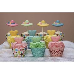 Easter Parade cupcakes