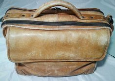 Vintage Avenue America Distressed Leather Briefcase Attache Bag Brown | Clothing, Shoes & Accessories, Men's Accessories, Backpacks, Bags & Briefcases | eBay!