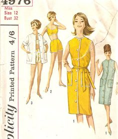 vintage sewing pattern with amazing illustration