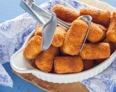 Croquettes panées de pommes de terre au gruyère léger au four : http://www.fourchette-et-bikini.fr/recettes/recettes-minceur/croquettes-panees-de-pommes-de-terre-au-gruyere-leger-au-four.html