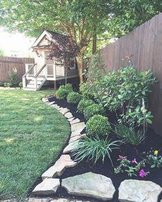 Here are the Front Yard Rock Garden Landscaping Ideas. This article about Front Yard Rock Garden Landscaping Ideas was posted under the Outdoor category by our team at January 2019 at am. Hope you enjoy it and don't . Landscaping Along Fence, Large Backyard Landscaping, Backyard Patio, Landscaping Ideas, Backyard Ideas, Patio Ideas, Pool Ideas, Fence Ideas, Backyard Playground