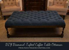 DIY home crafts  : DIY Ottoman Coffee Table