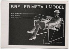 "Herbert Bayer, Breuer Metallmöbel, 1927. Letterpress. Letterpress, 5 7/8 x 8 5/16"" (14.8 x 21 cm). Jan Tschichold Collection, Gift of Philip Johnson. © 2012 Artists Rights Society (ARS), New York / VG Bild-Kunst, Bonn"
