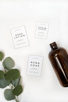 Free Printable Labels for Laundry Room Products-Print out these Free Labels for Laundry Room Products to add a modern and one of a kind look to your soap, lotion and stain remover! Laundry Labels, Soap Labels, Labels For Bottles, Printable Labels, Free Printables, Alcohol En Gel, Laundry Symbols, Home Spray, Folders