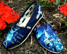 Made to Order Custom Painted TOMS Harry Potter Shoes
