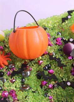 Bandeja sensorial de #Halloween #ideas