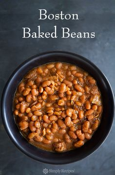 Slow cooked Boston baked beans, white beans cooked with salt pork and ...