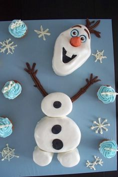 Olaf Birthday Cake With Kitkat Image Inspiration of Cake and