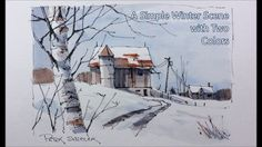 Wishing everyone a great 2017. Pen and Wash winter Barn. Just two colors...