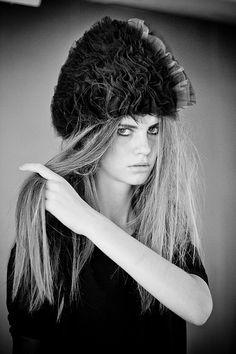 Handmade tulle hat