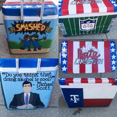 Custom Hand Painted Cooler by MollysMagicalShoes on Etsy