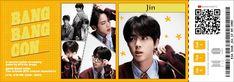 Bts Tickets, Bang Bang, Printable Stickers, Cute Stickers, Seokjin, Namjoon, Taehyung, Ticket Template, Fan Art