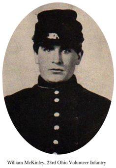 pre-President William McKinley in his 23rd Ohio Volunteer Infantry uniform