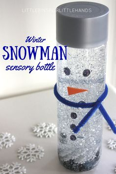 Snowman sensory bottle or melting snowman activity