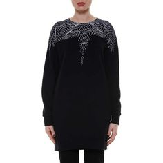 Marcelo Burlon - County of Milan 'Mercedes Crew' Printed Sweatshirt ($333) ❤ liked on Polyvore featuring tops, hoodies, sweatshirts and black