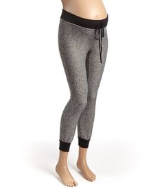 Look at this #zulilyfind! Gray & Black Heather Maternity Jogger Pants by Mom & Co. #zulilyfinds