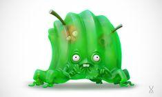 ArtStation - Jelly Monster, Yan Morala