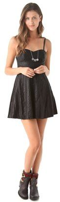 Free People - Vegan Pleatd Leather Dress - $198.00 - Click on the image to shop now
