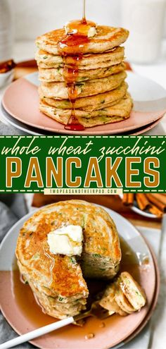 These Zucchini Pancakes are so light and fluffy! This easy breakfast idea is perfectly spiced, slightly sweet, and so good with butter and pure maple syrup. You have to try this healthy zucchini recipe! Zucchini Pancakes, Great Recipes, Healthy Recipes, Healthy Zucchini, Pure Maple Syrup, Breakfast Pancakes, Spices, Meals, Meal Ideas