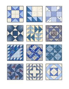 Edible images - blue quilt block designs