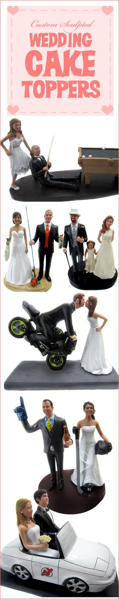 This company will customize a cake topper that perfectly suits you and your groom.