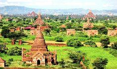 Bagan – Localização: Myanmar.Esta antiga cidade birmanesa foi a capital do Reino de Pagan. Lá cerca de 10.000 torres religiosas foram construídas.