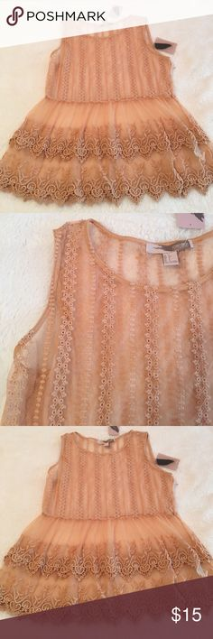 Forever 21 Sheer Top. NWT Adorable F21 sheer Lace Top. NWT Size small Forever 21 Tops