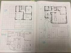 我が家の機能を備えた35坪|♡Fumi 's Blog♡30から建築士を目指すワーママブログ Engineering Notes, House Plans, Fumi, Floor Plans, Diagram, How To Plan, Sketch, Interior, Decor