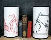 Handmade paper lamps with bikes