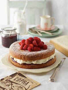 Jam and Cream Victorian Tea Cake Recipe | myfoodbook | Copha recipes