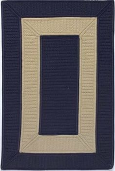 Colonial Mills Tournament Braided Rug - Navy, 6 x 9 ft. Rectangle by Colonial Mills. $480.00. This item is made to order and usually ships in approximately 10 Business Days.