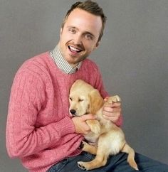 Photo of Aaron Paul & his  Dog Walter