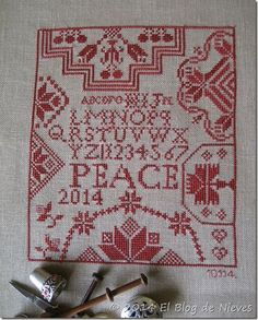 Work For Peace de Mary Garry's Sewing Cabin Punto de Cruz / Cross Stitch / point croix
