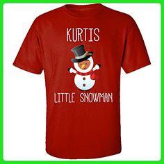 Kurtis Little Snowman Christmas - Adult Shirt S Red - Holiday and seasonal shirts (*Amazon Partner-Link)