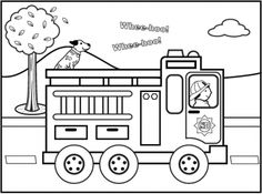 Pretend & Play Firefighter Coloring Sheet