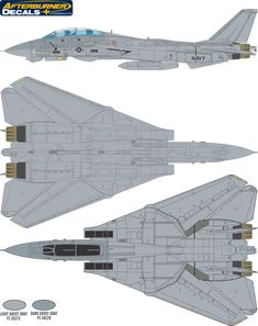 Here is the Grumman F-14 Tomcat Ghost Gray Camouflage Color Profile and Paint Guide.