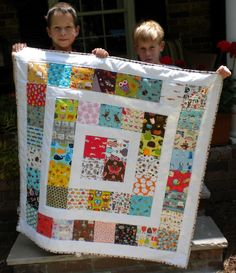 Cute quilt using a charm pack
