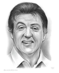 Sylvester Stallone Drawing - Stallone by Greg Joens Sylvester Stallone Family, Sylvester Stallone Daughters, The Expendables Cast, Expendables Tattoo, Celebrity Caricatures, Celebrity Drawings, Rocky Balboa, Stallone Rocky, Drawing Techniques