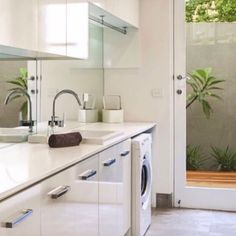 """Fantastic """"laundry room storage diy budget"""" detail is readily available on our web pages. Read more and you wont be sorry you did. Home Interior, Interior Design Living Room, Living Room Designs, Modern Laundry Rooms, Laundry In Bathroom, Laundry Room Organization, Laundry Storage, Laundry Shelves, Mirror Splashback"""