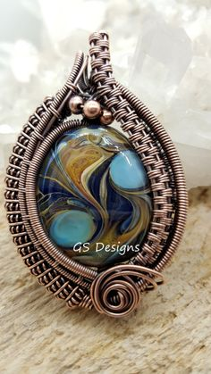 Image Wire Pendant, Wire Wrapped Pendant, Wire Wrapped Jewelry, Copper Jewelry, Beaded Jewelry, Jewlery, Wire Necklace, Necklaces, Wire Jewelry Making
