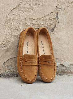 watch ab511 719c1 JULES   JENN - Mocassins femme cuir daim marron clair Chaussures Cuir Femme,  Mocassin Femme