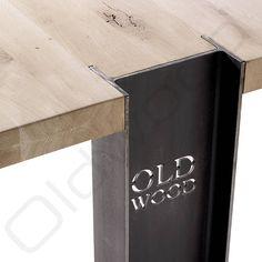 Robuuste houten tafel - Helsinki
