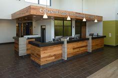 Animal Care Center of Downers Grove Office Plan, Vet Office, Office Ideas, Building Design Plan, Building Logo, Waiting Room Design, Office Waiting Rooms, Hotel Reception, Reception Desks