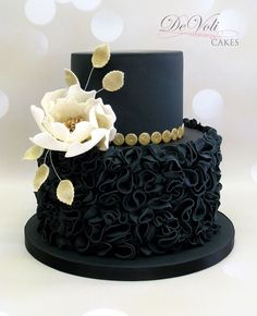 DeVoli Cakes black and white cake