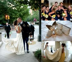 Navy / Yellow for an #ArmyWedding