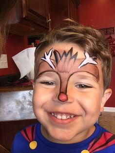 Boy reindeer face