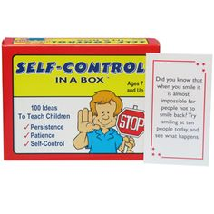 Self-Control In A Box Card Game. The 100 cards in this game teach children how to keep their cool and persevere, even under difficult circumstances. $21.95