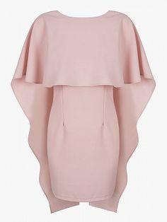 Shop Pink Backless Bodycon Cape Dress from choies.com .Free shipping Worldwide.$30.9